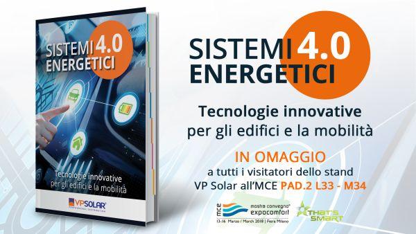 Sistemi energetici 4.0, un libro di VP Solar in distribuzione a MCE