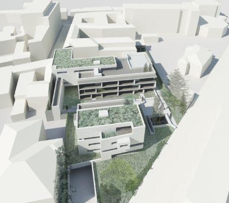 Rendering progetto Via Roma a Gallarate di Alvaro Siza Architetto