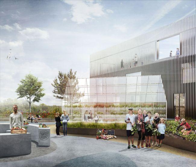 Giardini e orti personalizzano la New Island Brygge School di Copenhagen