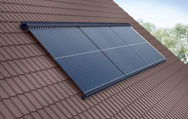 Installazione pannello solare termico sottovuoto ad alta efficienza Vitosol 300-TM di Viessmann