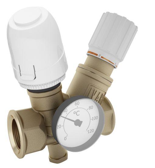 valvola proporzionale automatica con inserto termostatico RTV di Ivar