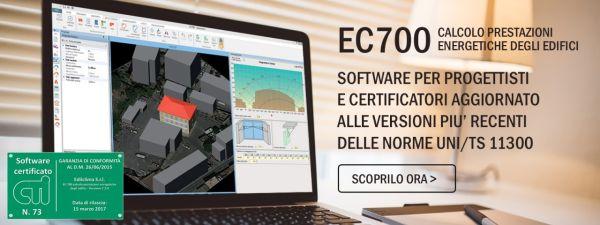 Aggiornato il software Edilclima EC 700 per il calcolo delle prestazioni energetiche degli edifici