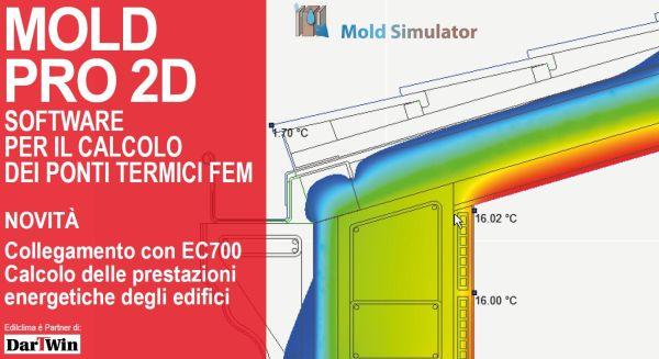 Software Mold PRO 2D per il calcolo ponti termici