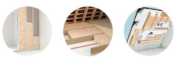 Utilizzo di PUREONE Natural Performance per pareti, solai e coperture