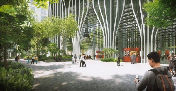 Gli studi Bjarke Ingels e Carlo Ratti firmano il nuovo grattacielo green di Singapore