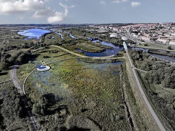 Progetto di riqualificazione a Randers in Danimarca per contrastare l'innalzamento delle acque