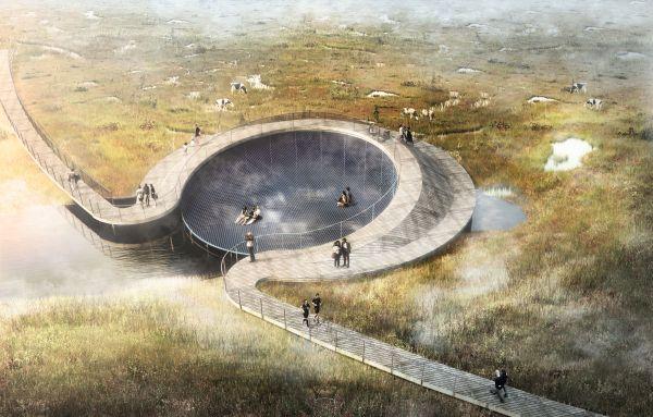 Il bacino naturale di filtrazione delle acque di Randers, in Danimarca