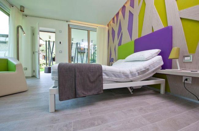 La camera da letto del modulo green-zero