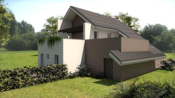 Villa singola Ecolibera in provincia di Como con tetto fotovoltaico