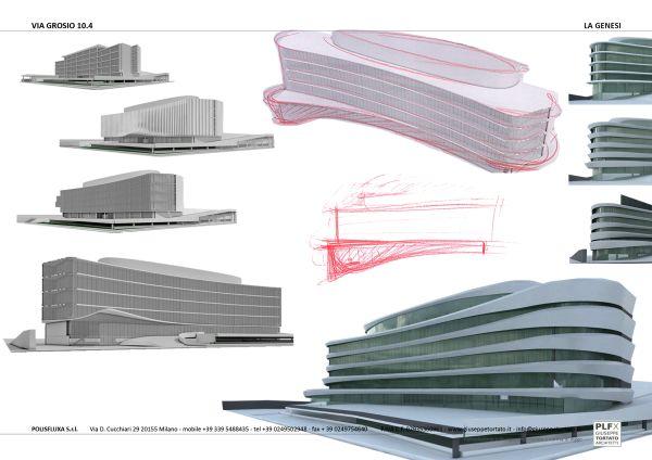 Come è nato il progettoArcadia Center, Un monolite sinuoso a nord est di Milano