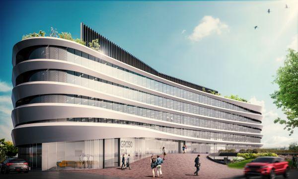 Il design curvilineo delle facciate del progetto Arcadia di Milano