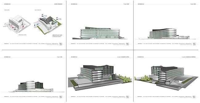 Piante del progetto Arcadia Center, futura sede dell'head quarter di Volkswagen a Milano