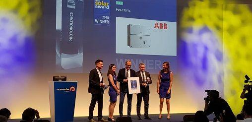 L'inverter di stringa PVS-175-TL di ABB  premiato a Intersolar Award 2018