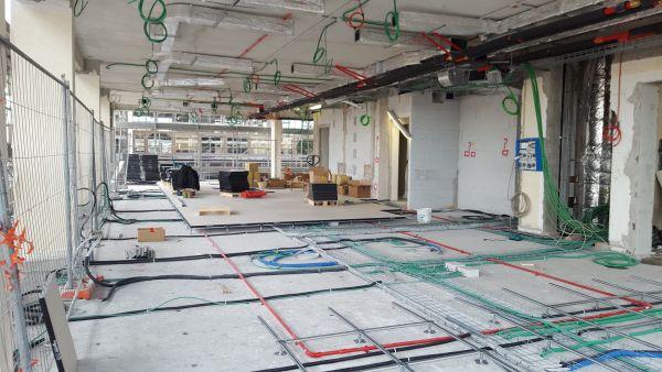 Il cantiere dei lavori della nuova sede Enav a Roma