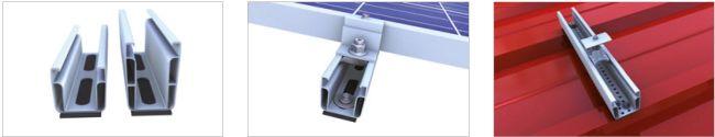 Sistema di montaggio novotegra di BayWa r.e. per per lamiera grecata