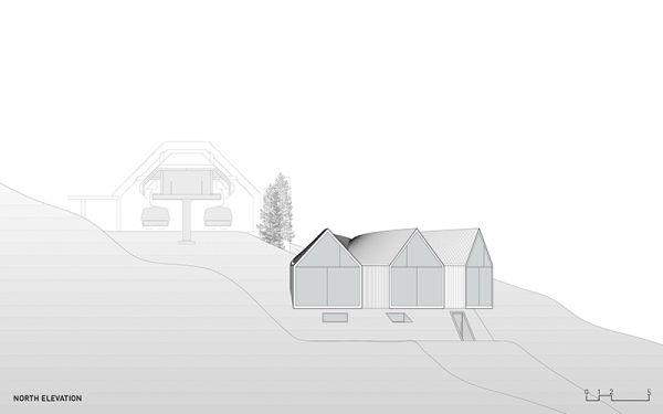 Pianta progetto rifugio Oberholz in sudtirolo