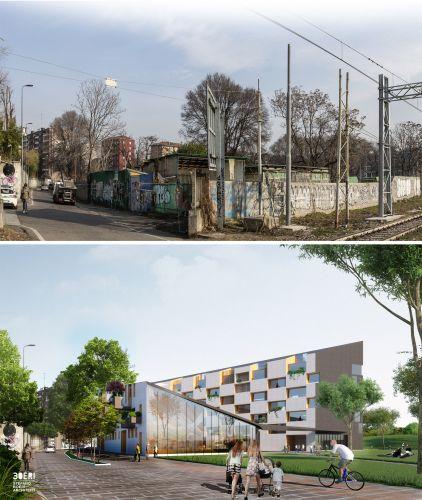 Edificio Corte Verde a Milano, prima e dopo i lavori