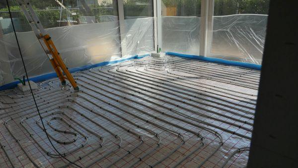 Serpentine a pavimento per il riscaldamento e raffrescamento a pavimento
