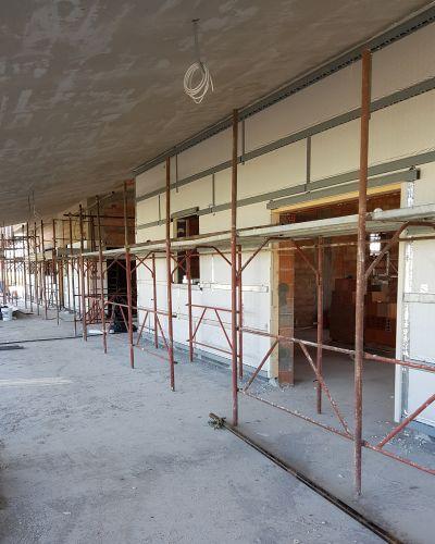 Isotec parete per l'isolamento delle facciate della palazzina del Ciclodromo di Ponte Buggianese