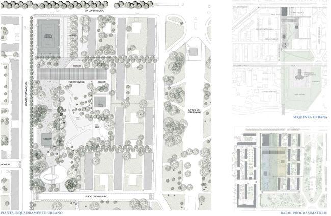 Nuova biblioteca Lorenteggio, planimetria generale