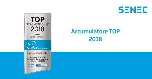 I sistemi di accumulo Senec vincono il riconoscimento accumulatori top 2018