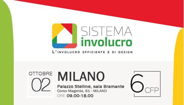 A Milano il 2 ottobre il tour sistema involucro