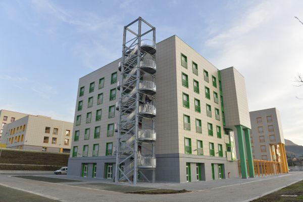 Facciate ventilate con isotec parete per il campus certificato leed