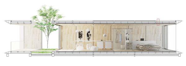 Sezione di Domani, l'eco-casa sostenibile e circolare