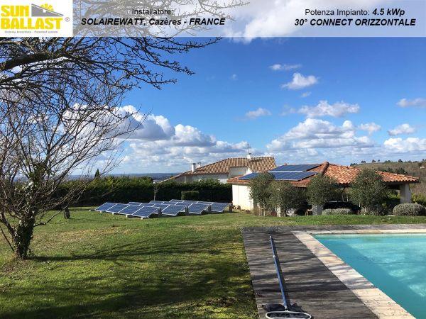 Applicazione Sistema Connect Sun Ballast per l'installazione di impianti fotovoltaici su coperture piane