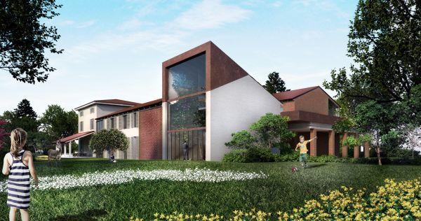 Greenary: la casa colonica di Mutti sviluppata attorno all'albero di Ficus