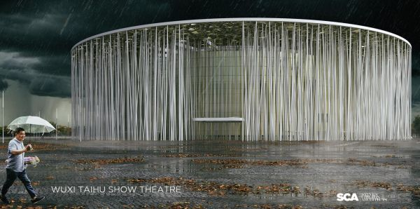 Wuxi Show Theatre, il teatro che sembra una foresta di bambù