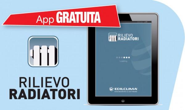 App gratuita Edilclima rilievo radiatori