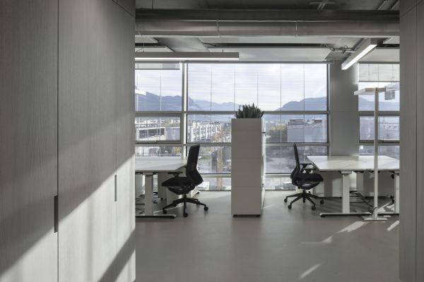 pannelli radianti sopsesi Twin Copper di RDZ per il NOI Techpark di Bolzano