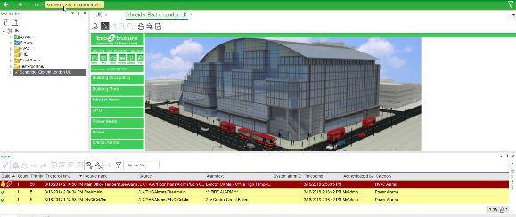 Innovativa per EcoStruxure Building la gestione degli edifici.