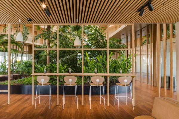 Green Hotel Jakarta di Amsterdam,realizzato in bambù
