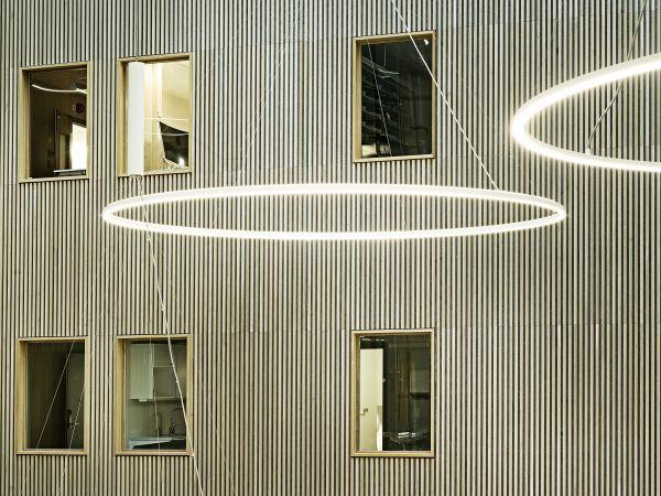 Facciate interne del nuovo ospedale Haraldsplass di Bergen in Norvegia