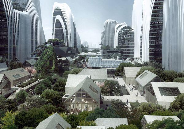Nanjing Zendai Himalayas Center: quando la montagna arriva in città