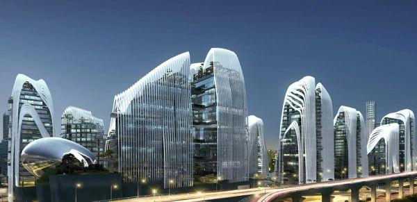 Nanjing Zendai Himalayas Center richiama nell'architettura la montagna