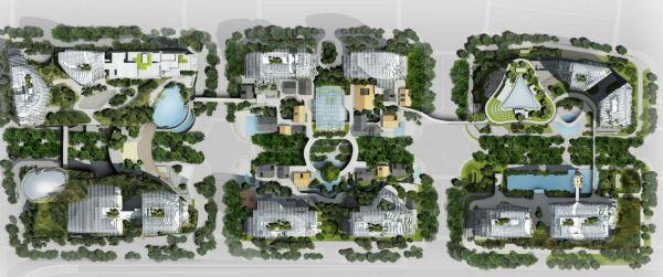 Rendering del progetto Nanjing Zendai Himalayas Center