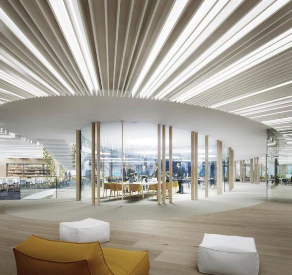 massima illuminazione naturale per gli spazi interni del Powerhouse Brattorkaia