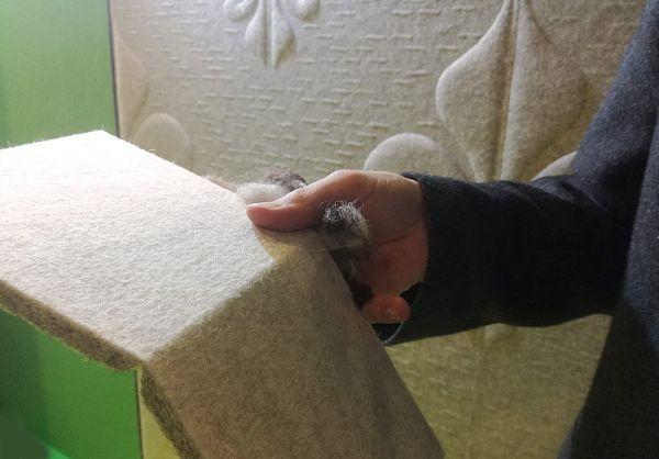 Whisperwool, isolante in lana di pecora dell'azienda Tante Lotte Design