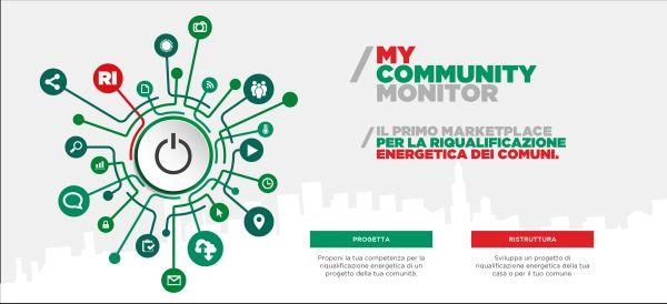 Risparmio energetico: mycommunity monitor, innovativa piattaforma che mette in contatto tutti gli attori