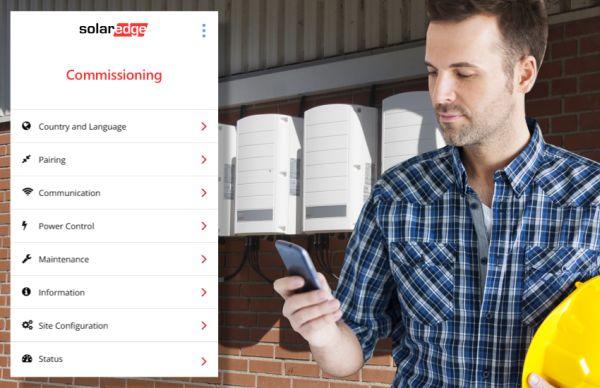 Solaredge SetApp: applicazione per configurare l'inverter