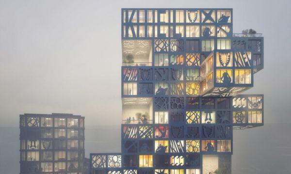 il quartiere fotovoltaico tedesco realizzato in stile jenga. Black Bedroom Furniture Sets. Home Design Ideas