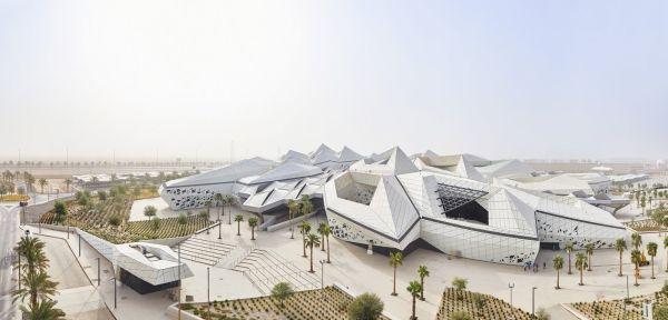 I 5 edifici che compongono ilcentro di ricerca KAPSARC a Riyad
