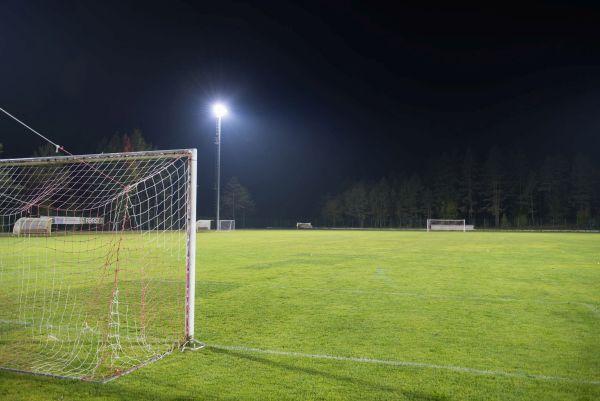 Proiettori LED Smart[PRO] Gewiss per l'intervento di relamping del campo da calcio Ciamaor
