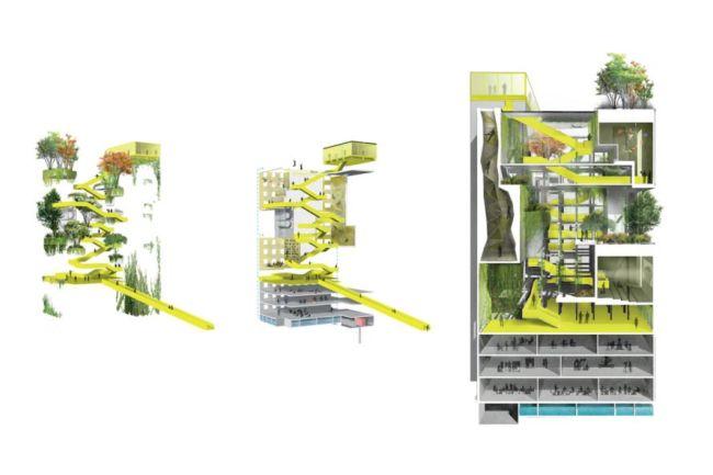 Una delle torri del Bajes Kwartier diventerà un parco pubblico verticale