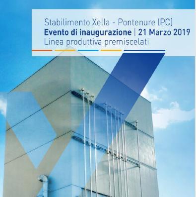 Il 21 marzo inaugurata la nuova linea produttiva del sito produttivo di Pontenure di Xella