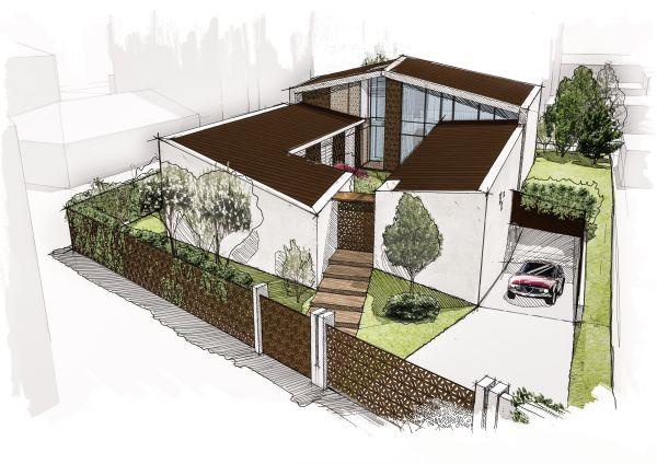 A Milano una villa realizzata secondo i principi dell'architettura bioclimatica