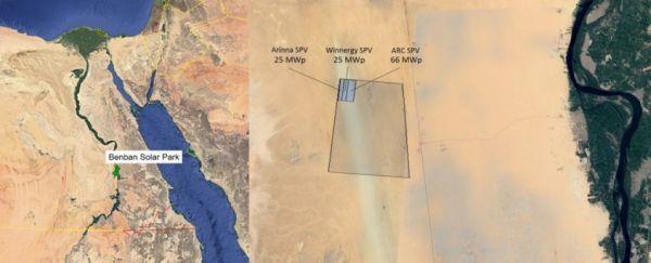 In Egitto il Benban Solar Park, il più grande parco solare al mondo, visibile dallo spazio